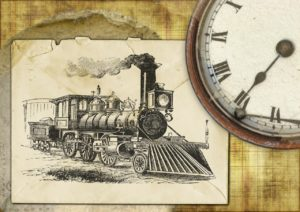 Lockomotive und Uhr