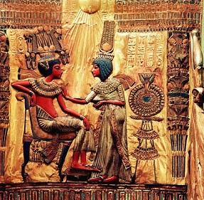 Pharao mit Gemahlin