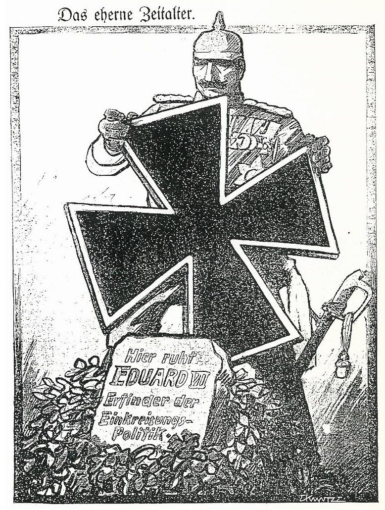 Karikatur Einkreisung Deutschlands