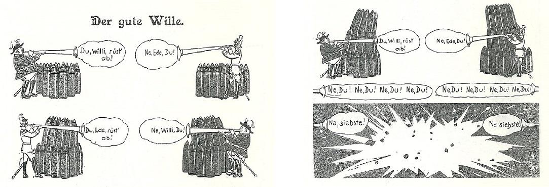 Karikatur Weltbrand
