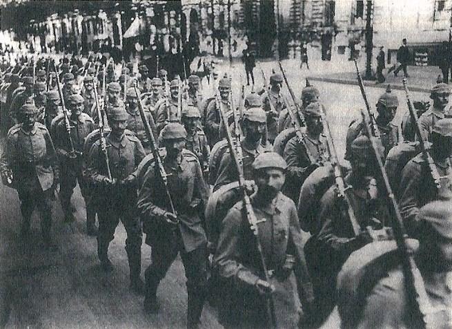 Abmarsch Soldaten