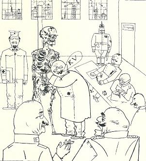 Karikatur Eignungstest