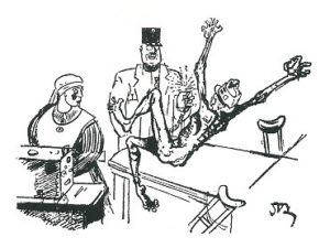 Karikatur Kriegszitterer