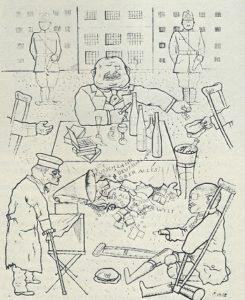 Karikatur Bettler-Pest