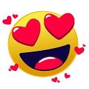 Smiley mit Herzaugen