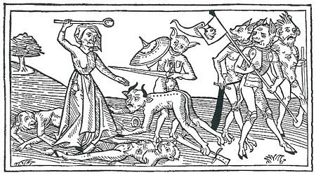 Frau und Teufel
