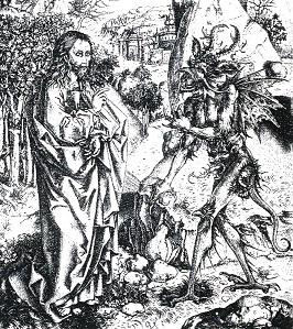 Jesus und Teufel