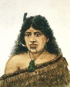 Maori Frau