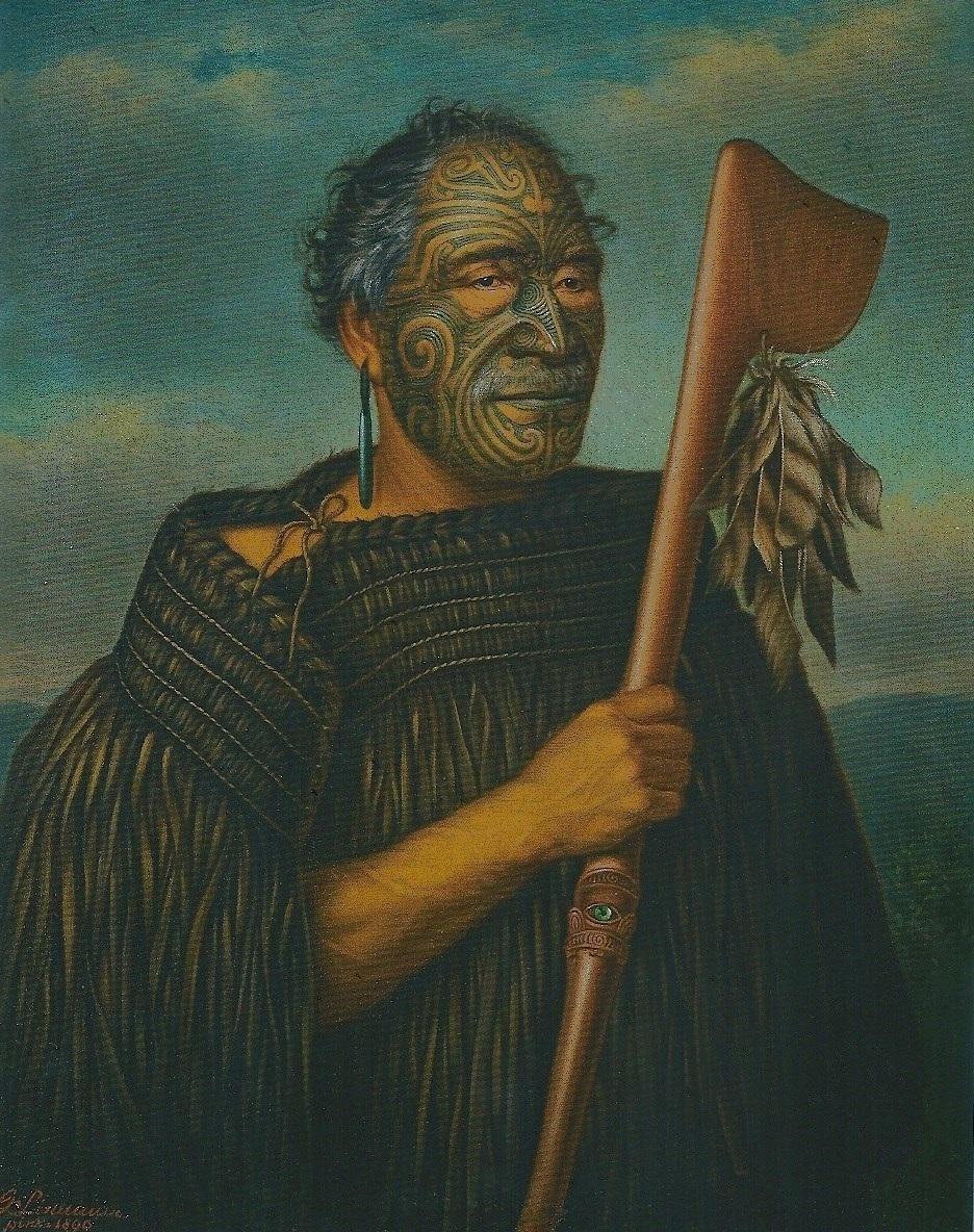 Maori-Haeuptling