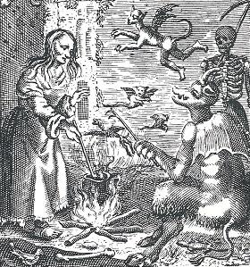 Hexe und Teufel