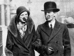 Schutzmasken - Spanische Grippe