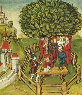 Ratsversammlung unter der Gerichtslinde