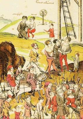 Hinrichtung am Galgen 1504
