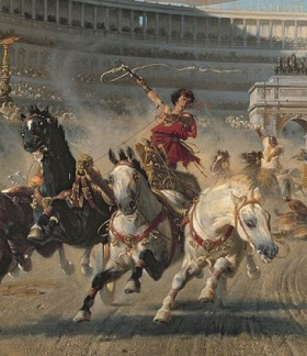 Antike Wagenrennen